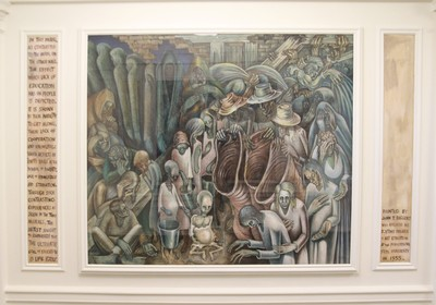Lobby mural - 'Night of the Poor' by John T. Biggers
