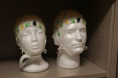 EEG (electroencephalography) headsets in the Brain and Language Lab